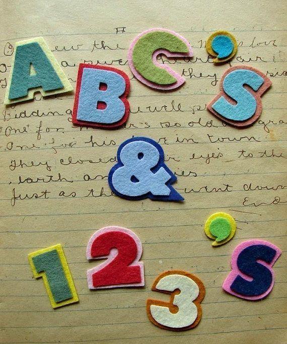 Wool Felt Alphabet Set Chunky Font  Fun by AMarketCollection, $8.00