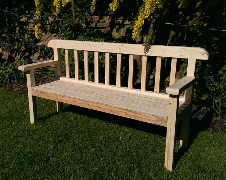 Handmade Rustic Garden Bench Seat In Eco Friendly Solid Wood Available To Buy On Etsy