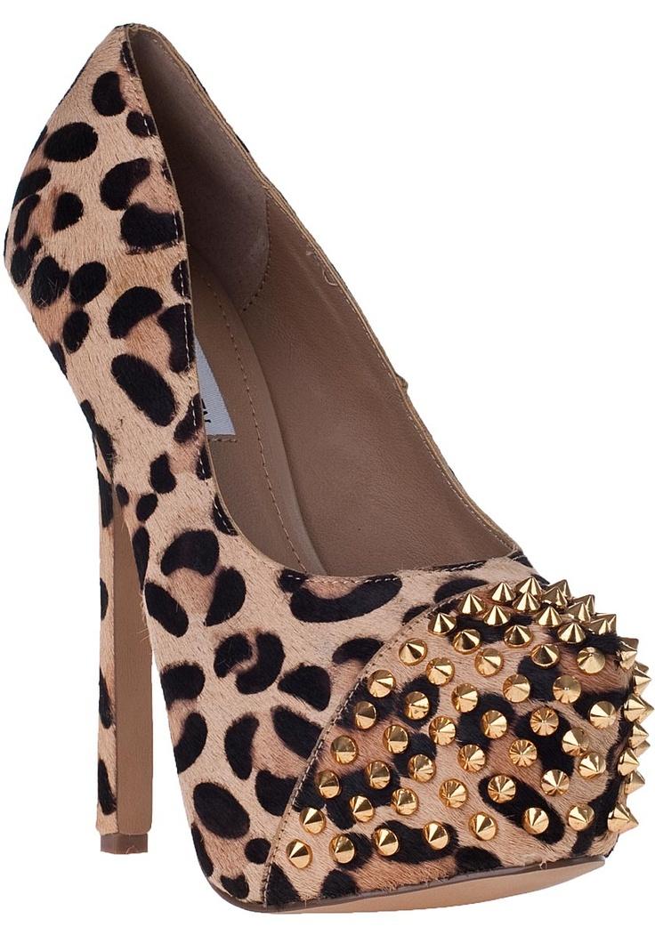 Steve Madden Shoes - Bolddd Platform Pump Leopard Hair Calf