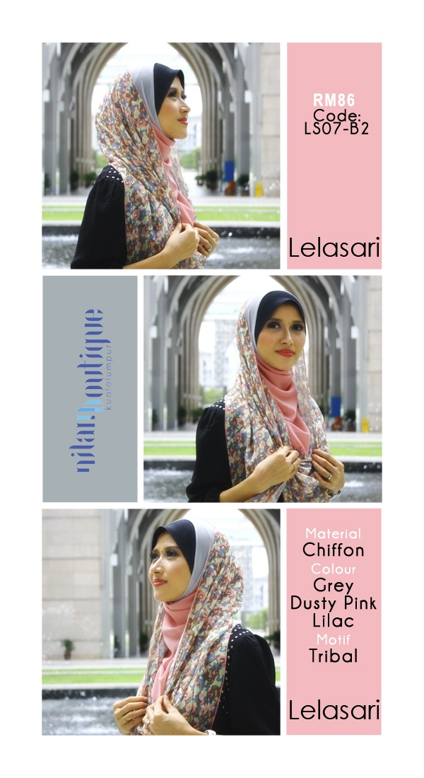 $29 Lelasari instant shawl. Easy to wear. Can be worn with only 1 or 2 brooches. Tutorial on how to wear the shawl is available in Nilam's blog.    We do ship internationally. Contact us to inquire for shipping rate.    Visit our weblog to place order http://www.nilamboutique.com/blog/2013/04/29/lelasari-2nd-batch/    Or email info@nilamboutique.com  #muslim #hijab #shawl #muslimah #fashion