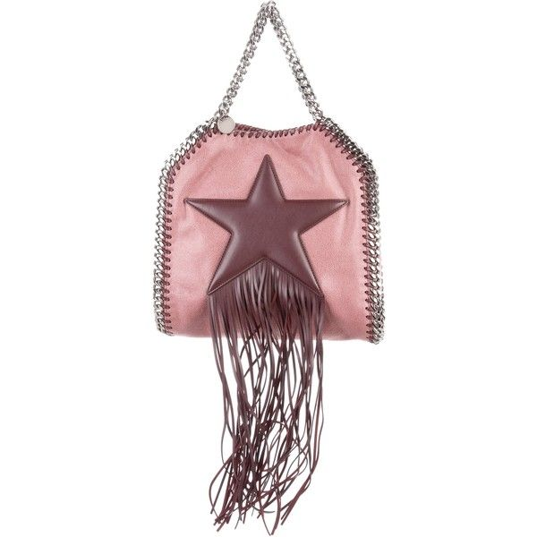 Pre-owned Stella McCartney Falabella Fringed Star Tiny Tote ($675) ❤ liked on Polyvore featuring bags, handbags, tote bags, pink, pink tote purse, pink tote handbags, hand bags, fringe tote bag and stella mccartney tote