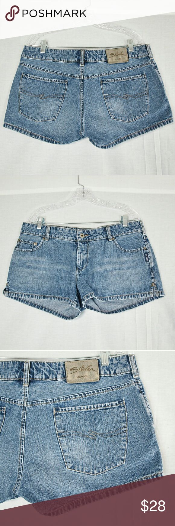 "Women's Silver Jeans Denim Shorts Size 34 In great condition (no rips, tares or stains). Waist: 38"" around length: 13"". 100% cotton. Add to a bundle to receive 20% off. Offers welcomed.  Bin h8 Silver Jeans Shorts Jean Shorts"
