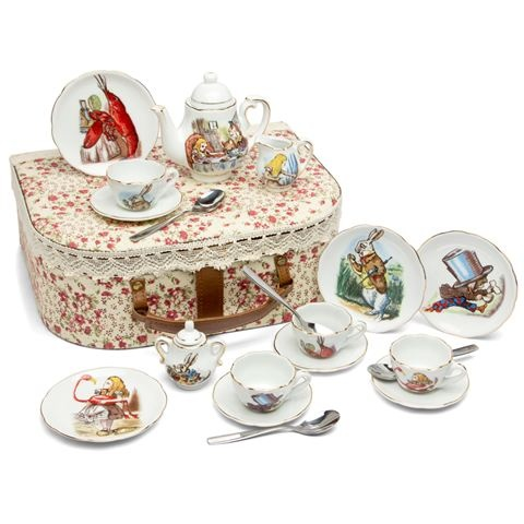 peter 39 s of kensington reutter alice in wonderland children 39 s tea party set just because i. Black Bedroom Furniture Sets. Home Design Ideas