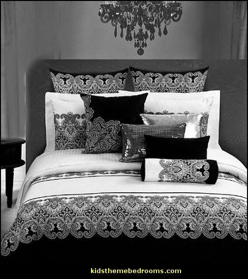 Classic Damask Black And White Duvet Cover Bedding sets