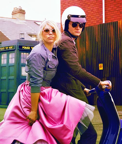 On a trip with Rose and The Doctor.