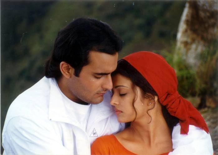 Akshaye Khanna and Aishwarya Rai from Taal.