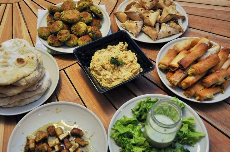 Repas libanais vegan