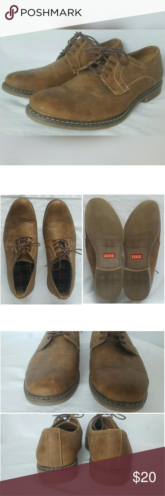 "Men's Brown Oxford Lace Up Shoes - IZOD ""Chad"" IZOD ""Chad"" Lace up Oxford Shoes - Men's Size 11M - Brown - Not in original box - Excellent Condition, very light signs of wear.  💜ALL OFFERS CONSIDERED💜 Izod Shoes Oxfords & Derbys"