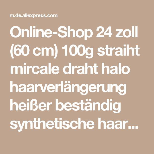 Online-Shop 24 zoll (60 cm) 100g straiht mircale draht halo haarverlängerung heißer beständig synthetische haarverlängerung  Aliexpress Mobil
