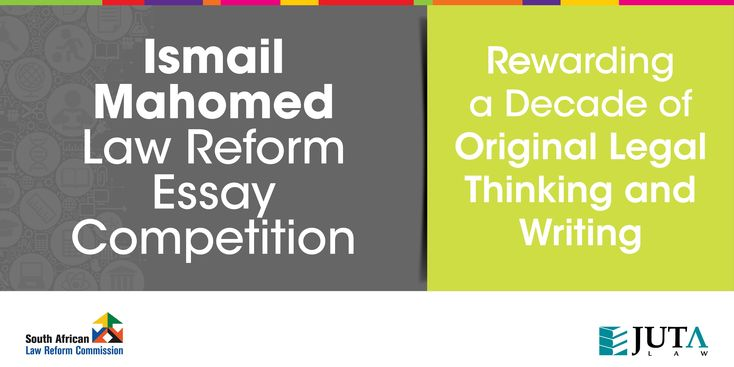 The 2013 Ismail Mahomed Essay Prize will be awarded at an Award Ceremony in Pretoria on 5 September 2014. The event will also commemorate the Competition's decade of rewarding original legal thinking and writing.