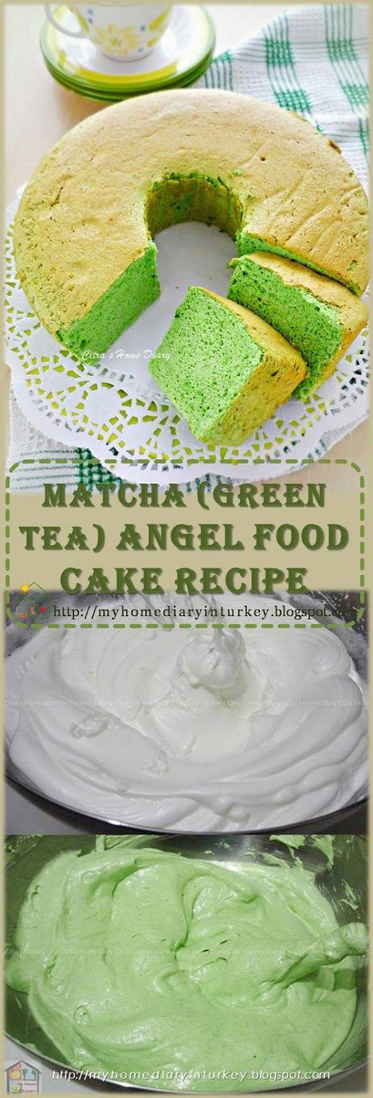 Matcha (Green tea) angel food cake recipe / Resep Matcha Angel food (cake dari putih telur). #resepputihtelur #angelfoodcake #eggwhiterecipe #matcha #greentea #dessertcake #greencakeidea