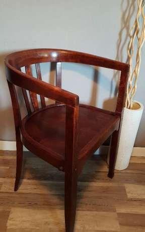 Stare, stylowe krzesło gabinetowe, fotel lata 50-te, vintage, retro Płock - image 1