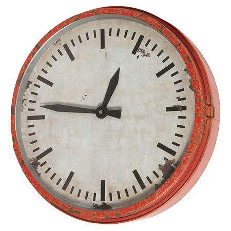 Nantucket Clock in Red