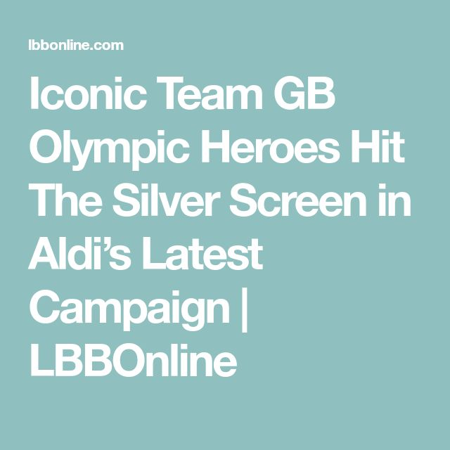 Iconic Team GB Olympic Heroes Hit The Silver Screen in Aldi's Latest Campaign | LBBOnline