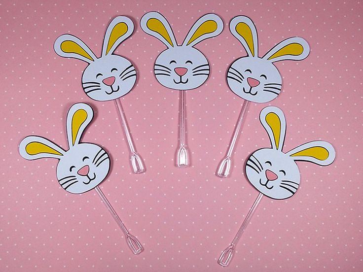 Lindos toppers coelho da páscoa para decorar e encantar sua festinha. Festa Páscoa - Páscoa