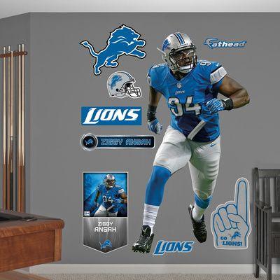 NFL Detroit Lions Ziggy Ansah Wall Decal