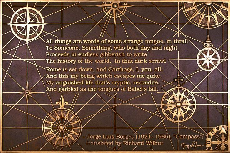 Jorge Luis Borges Compass art