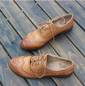 Ladies platform shoes women Genuine leather shoes Oxford shoes for women Brogues Leisure vintage women flats brand shoes US $54.99