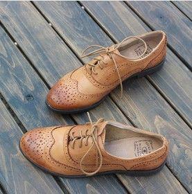 Ladies platform shoes women Genuine leather shoes Oxford shoes for women Brogues Leisure vintage women flats brand shoes US $54.99