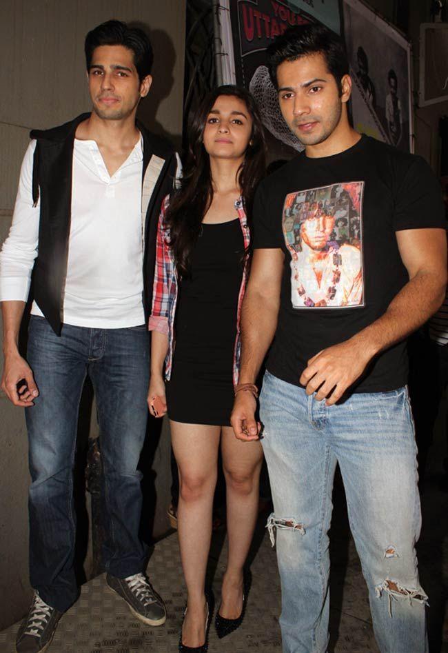 Sidharth Malhotra, Alia Bhatt & Varun Dhawan at Coke Studio@MTV Season 3 #Bollywood #Fashion