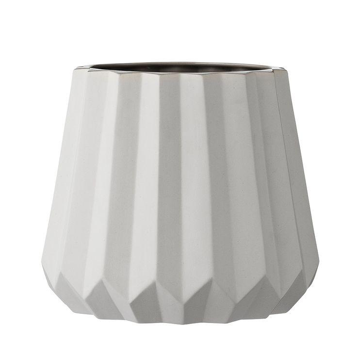 bloomingville vase 26cm h23cm white grey. Black Bedroom Furniture Sets. Home Design Ideas