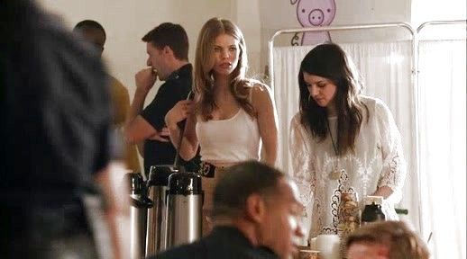 Annie Wilson's Deidra Embroidered Lace Blouse on 90210