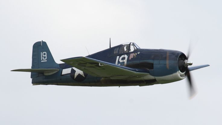 Bearcat, Hellcat and Corsair at The Duxford Air Show, 13th & 14th September 2014.