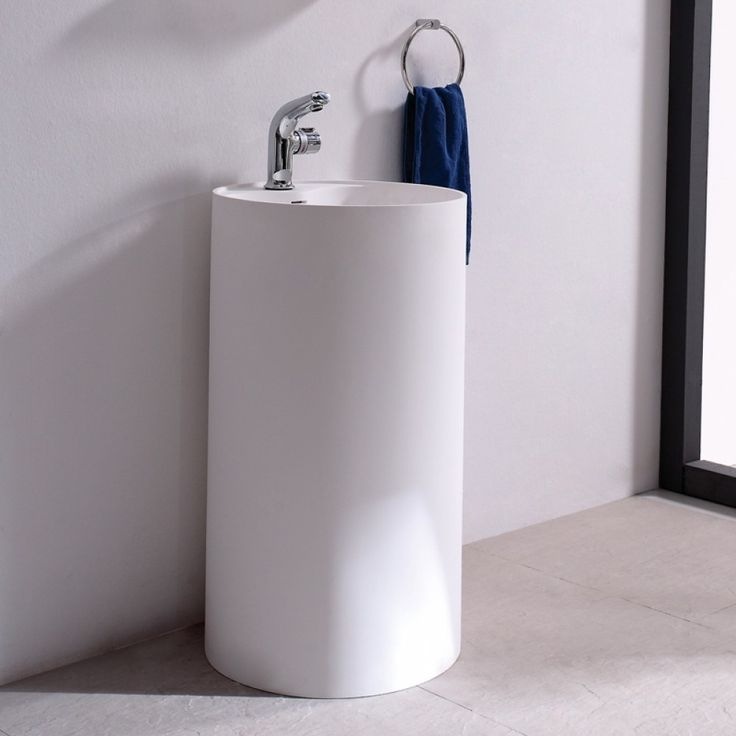 Soakology Ice S Cast Solid Surface Freestanding Wash Basin  Cool by name   cool by nature  the Ice S Cast wash basin would be at home in any modern  bathroom. 17  images about Soakology Bathroom Suites on Pinterest