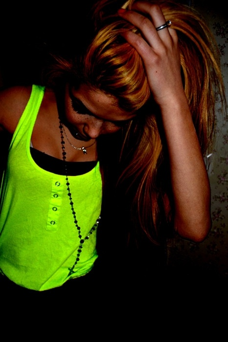 fashion, clothes, clothing, tops, tank tops, yellow, neon colors