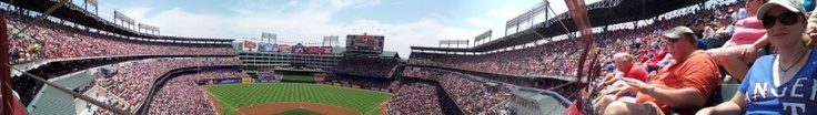 148/366: The Bowl - Panoramic view from our seats at yesterdays Texas Ranger game.