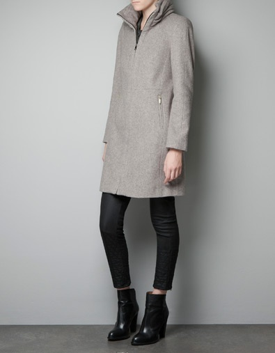 COAT WITH WRAPAROUND COLLAR - Woman - New this week - ZARA United States