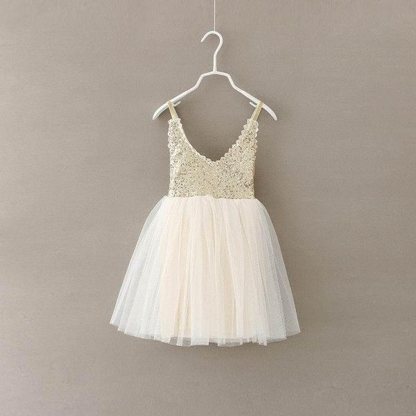 Nothing says glam like sequins and tulle! We absolutely love this spaghetti strapped dress with sequin details and full tulle skirt. Absolutely adorable for any special occasion but we love to see it on the flower girls! #flowergirl #coolkidsclothes