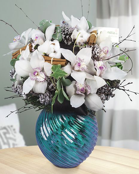 Winter bouquet with Cymbidium Orchids