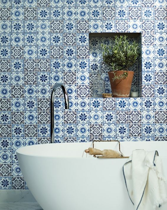 tiled wall nook - Fired Earth