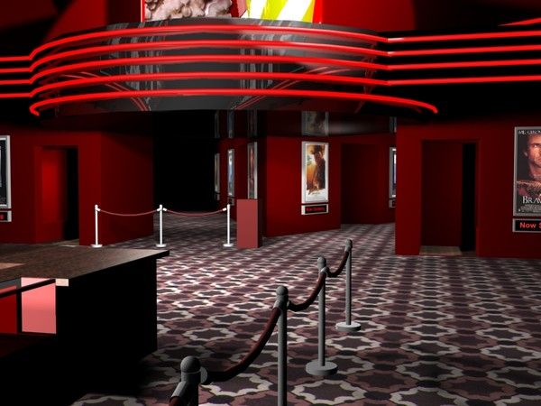 Movie Theatre Lobby 1 Jay Burt Yankee Dawg You Die Lobby DIsplay Dramatu