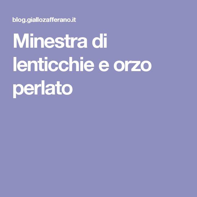 Minestra di lenticchie e orzo perlato