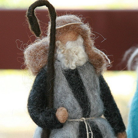Needle Felted Shepherd for Nativity Set - Waldorf Inspired - Made to Order. $45.00, via Etsy.