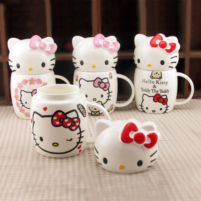 Hello Kitty Cups with Ears and Lids!