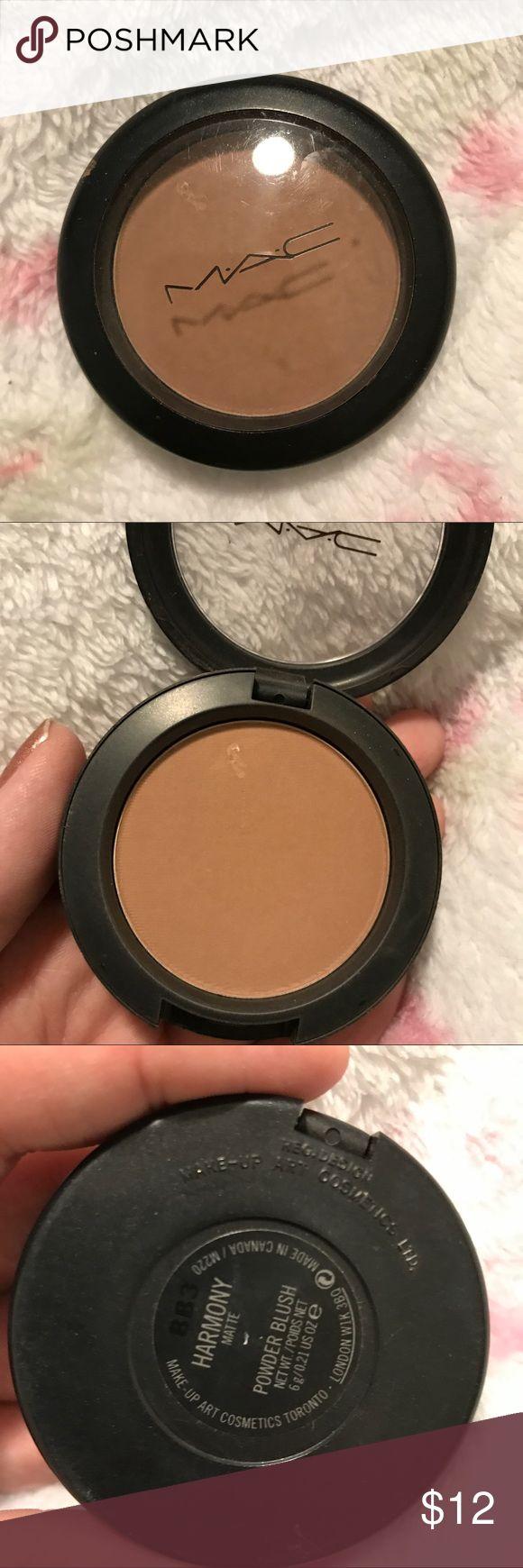 MAC Harmony Matte Blush Can also work as a contour powder on fair skin. Used a few times. 🚫 Trades 🚫 PayPal MAC Cosmetics Makeup Blush