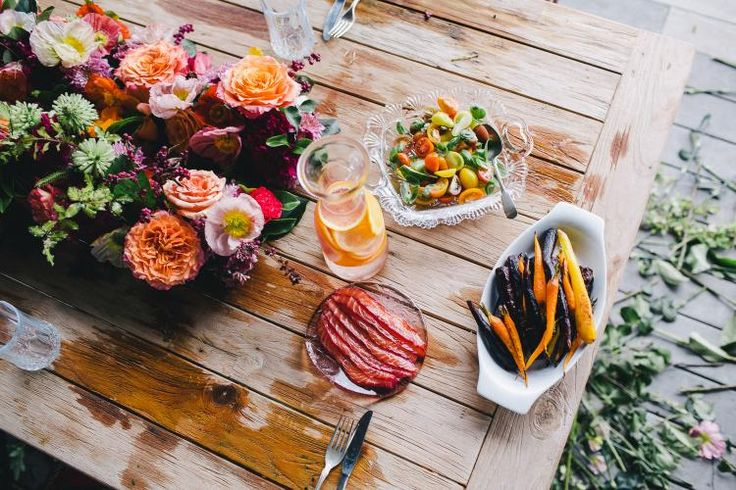 Tropical Inspired Food Styling / Wedding Style Inspiration / LANE