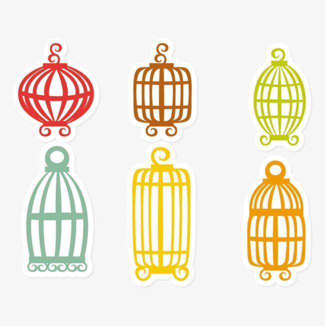 تلوين كرتون قفص الطيور Cartoon Birds Bird Cage Color