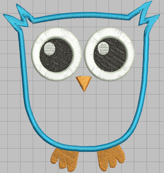 Baby Owl Big Eyes Applique Embroidery Design By Monkeytaledesigns $2.99 | Sewing | Pinterest ...