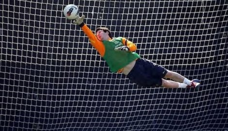 Messi as a goal keeper