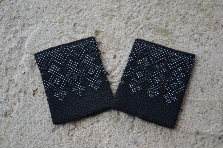 Lithuanian beaded wrist warmers/ nakties feja