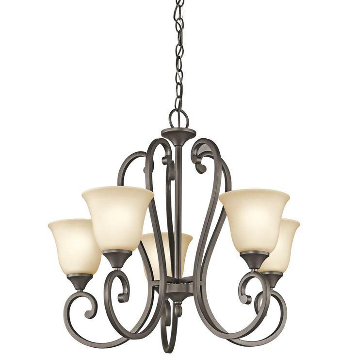 Kichler 5 Up Light Chandelier Bronze