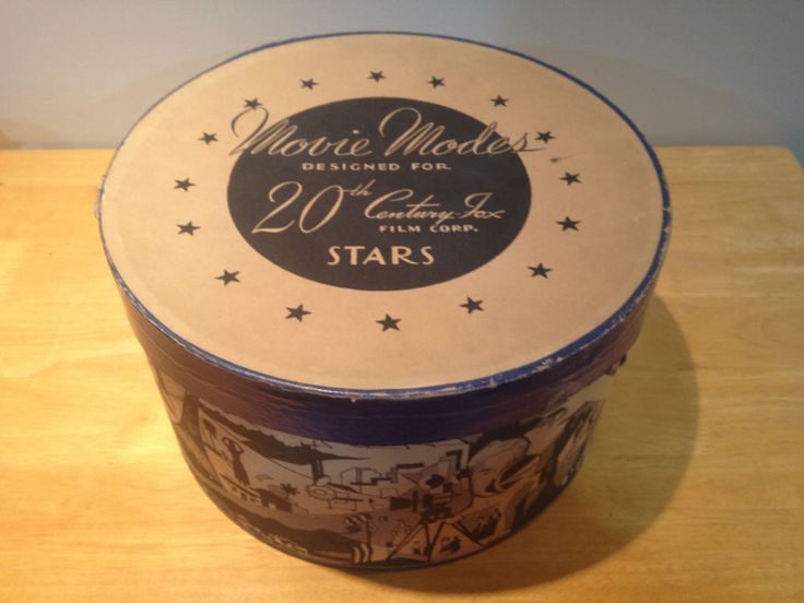 Antique french Hat Boxes | Rare Vintage Hat Box Movie Modes 20th Century Fox Film Corporation ...