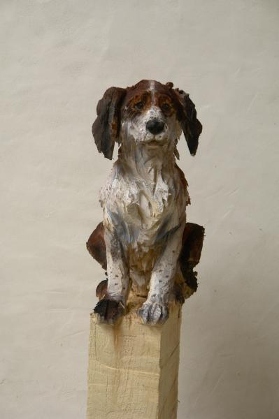 wooden sculpture- chainsaw - Jurgen Lingl-Rebetez
