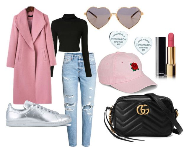"""Shopping In Melbourne's CBD"" by softoctobernight on Polyvore featuring H&M, Gucci, Rosetta Getty, adidas, Simons, Tiffany & Co. and Wildfox"
