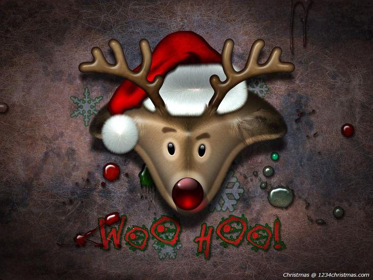 Christmas Reindeer Wallpaper | Santa Flying Reindeer ...