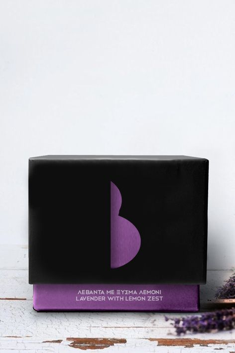 BARIAMIS SWEETS PACKAGING. GREEK DELIGHT/ LAVENDER WITH LEMON ZEST.